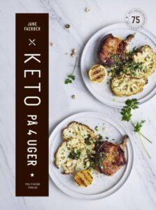 bog med mad og titlen keto på 4 uger på forsiden