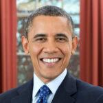 Foto af Barack Obama som smiler
